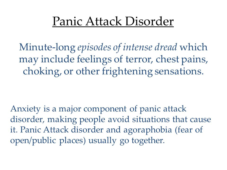 Generalized Anxiety Disorder (G.A.D) 1.Disorder characterized by persistent and uncontrollable tenseness and apprehension (worrying).