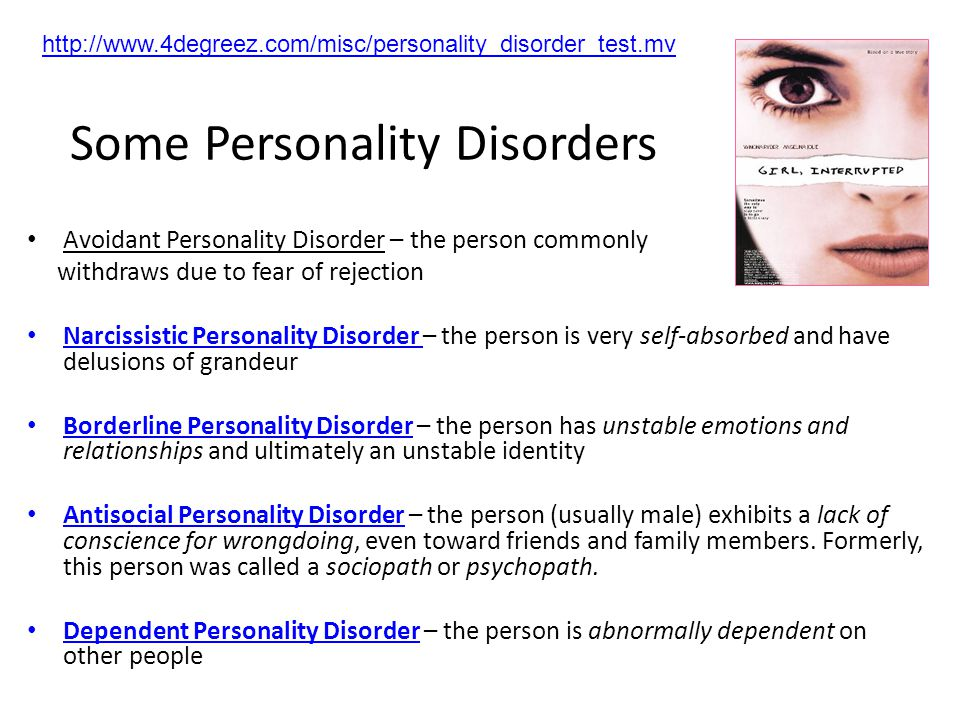 Personality Disorders Personality disorders are characterized by inflexible and enduring behavior patterns that impair social functioning.