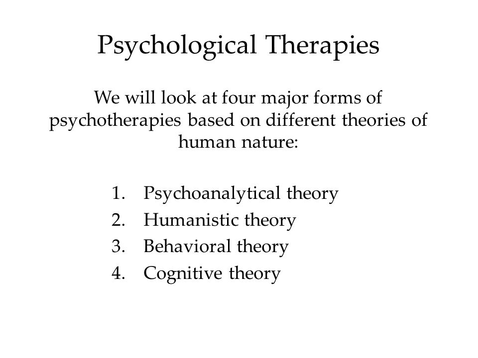 Therapies Psychotherapy involves an emotionally charged, confiding interaction between a trained therapist and a mental patient.