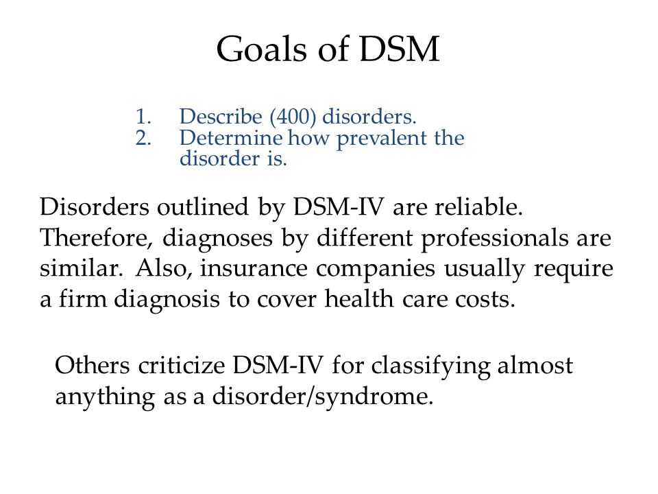 Classifying Psychological Disorders The American Psychiatric Association rendered a Diagnostic and Statistical Manual of Mental Disorders (DSM) to describe psychological disorders.