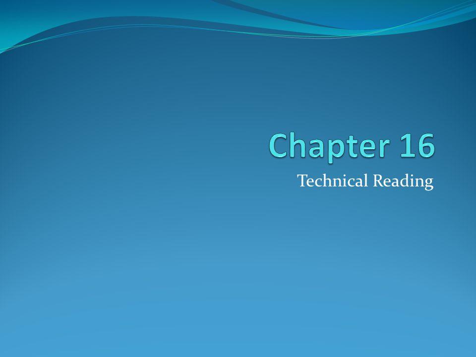 Technical Reading Vs.