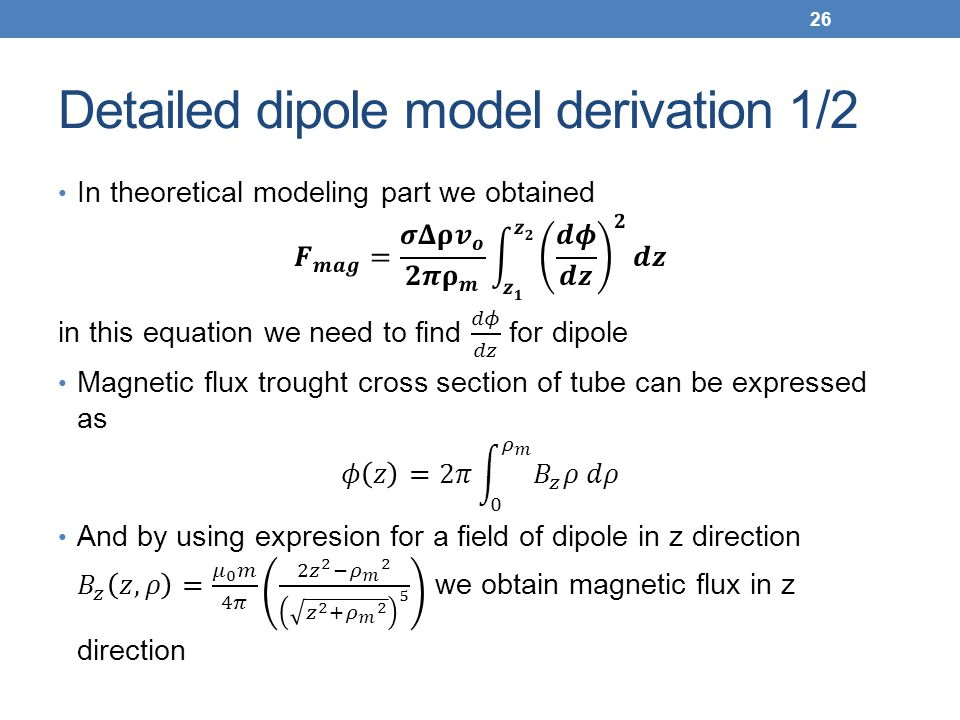 Detailed dipole model derivation 1/2 26