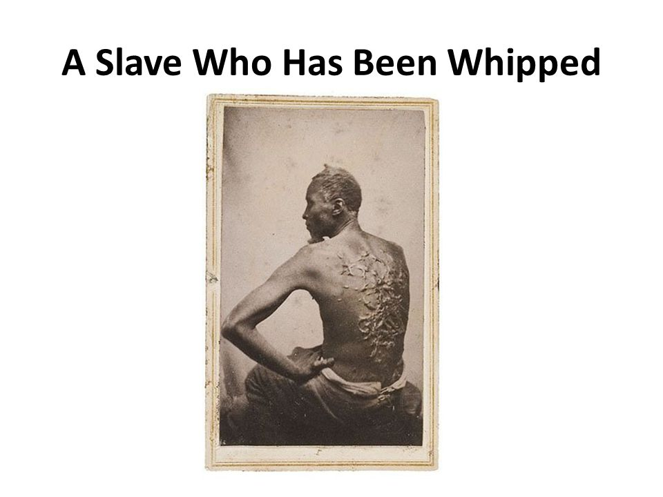A Slave Who Has Been Whipped