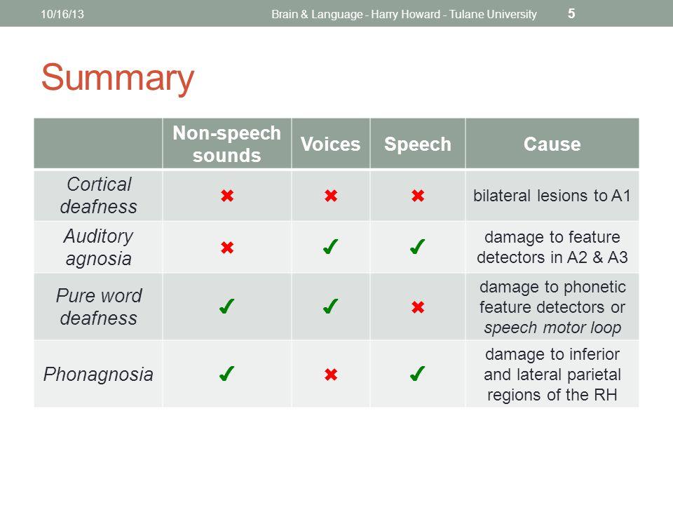 MIRROR NEURONS 10/16/13Brain & Language - Harry Howard - Tulane University 16