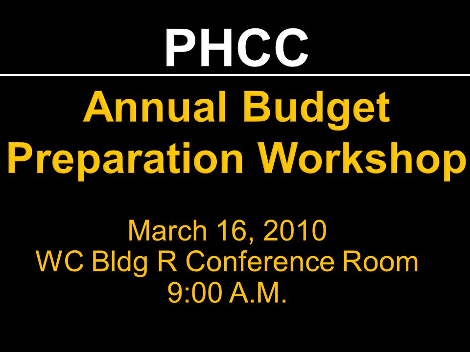 March 16, 2010 WC Bldg R Conference Room 9:00 A.M.