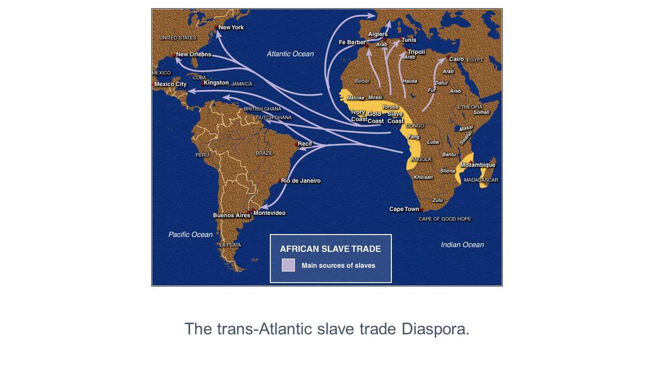 The trans-Atlantic slave trade Diaspora.