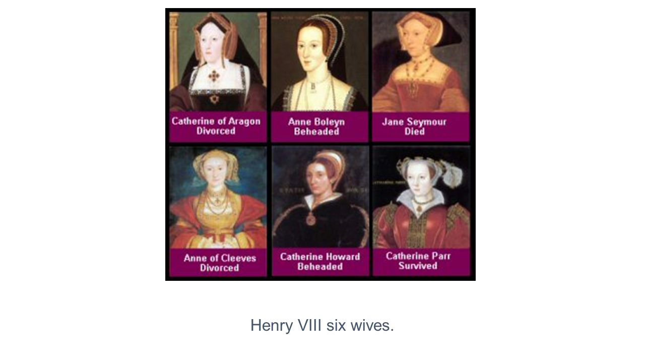 Henry VIII six wives.