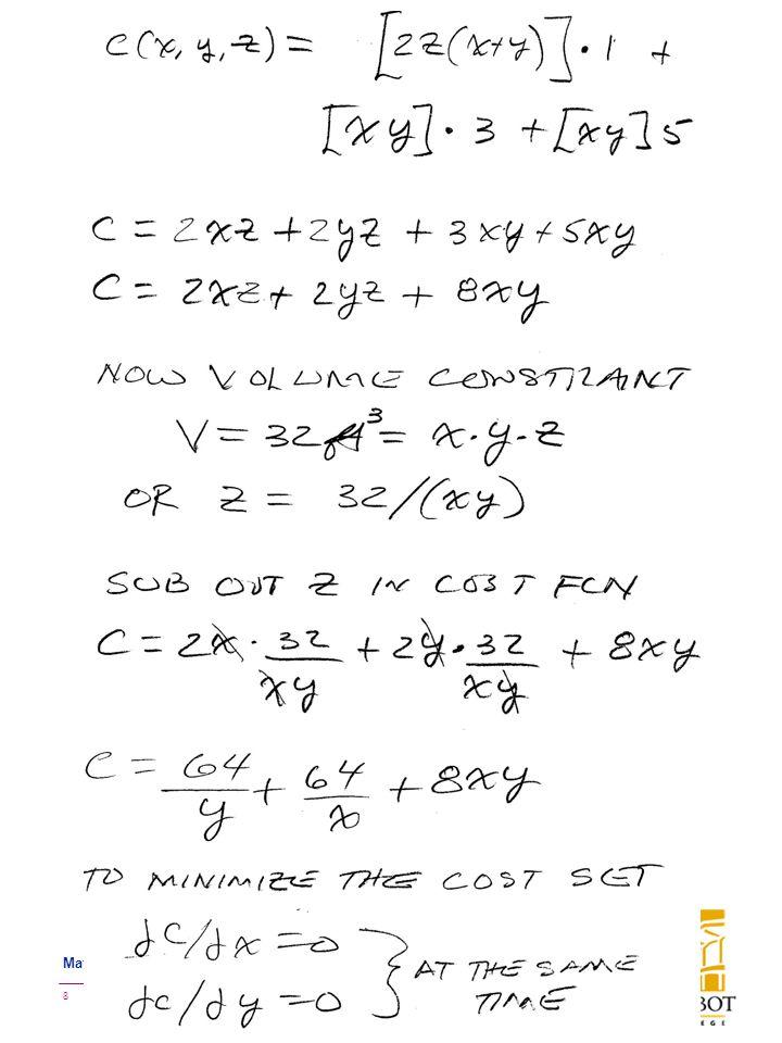 BMayer@ChabotCollege.edu MTH16_MTE1_Review.pptx 8 Bruce Mayer, PE Mathematics 16: Applied Calculus-II