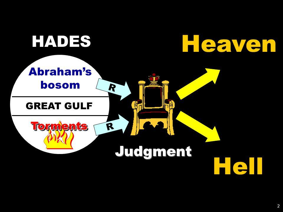 GREAT GULF Abraham's bosom TormentsTorments R R Heaven Hell 2 Judgment HADES