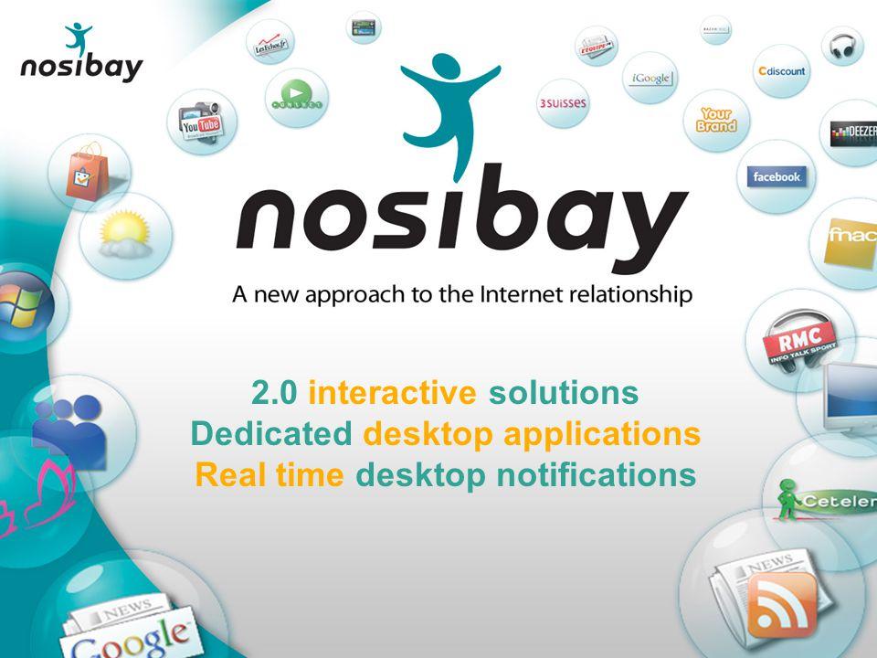 2.0 interactive solutions Dedicated desktop applications Real time desktop notifications