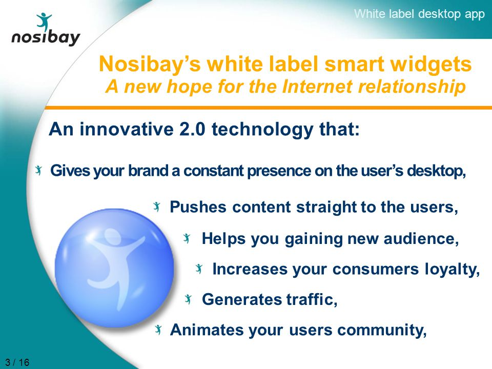 Nosibay's white label smart widgets A new hope for the Internet relationship Pushes content straight to the users, Helps you gaining new audience, Inc