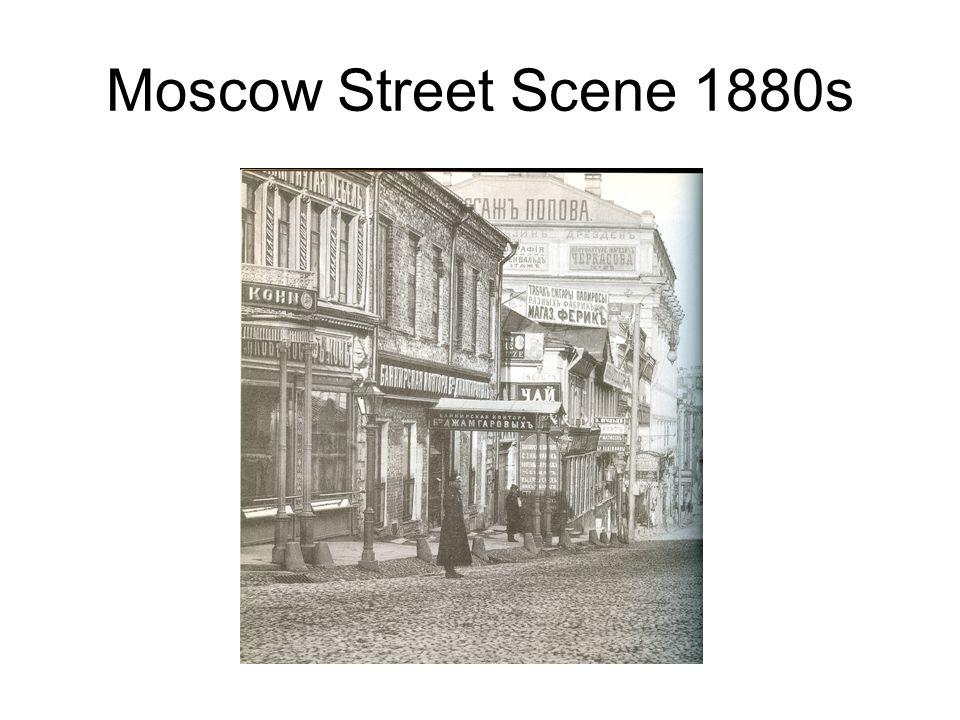 Moscow Street Scene 1880s