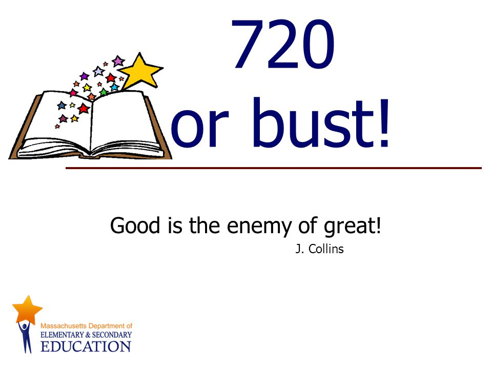 720 or bust! Good is the enemy of great! J. Collins