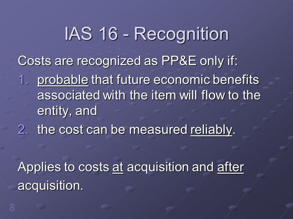 9 IAS 16 - Recognition The government requires HTY Ltd.
