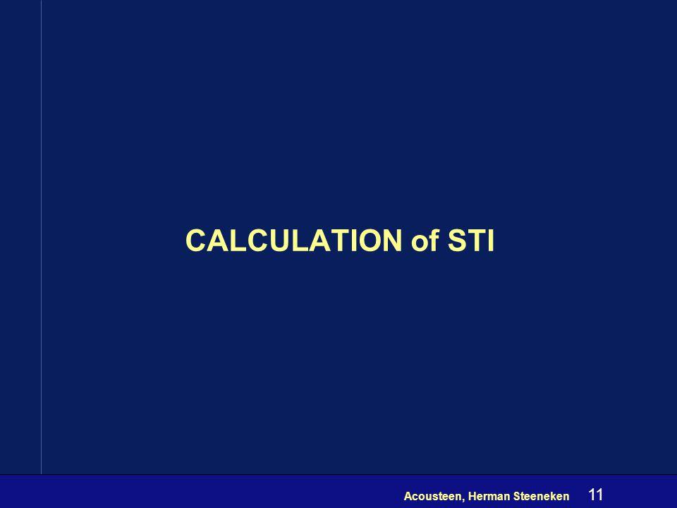 Acousteen, Herman Steeneken 10 Matrix for seven MTF's 1 Hz X 3 Hz 10 Hz
