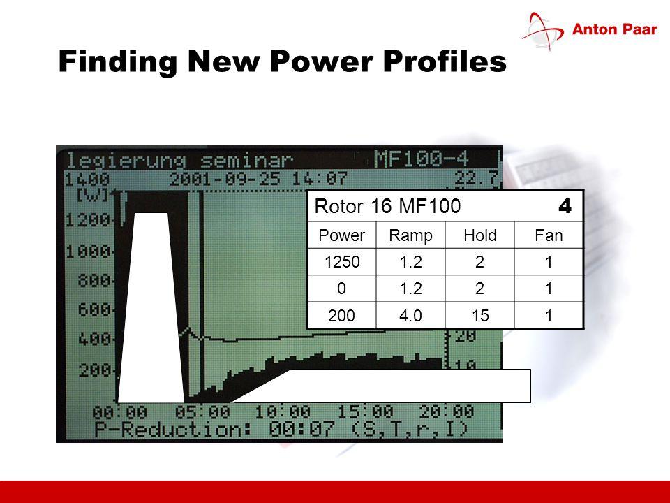 Finding New Power Profiles Rotor 16 MF100 4 PowerRampHoldFan 12501.221 0 21 2004.0151