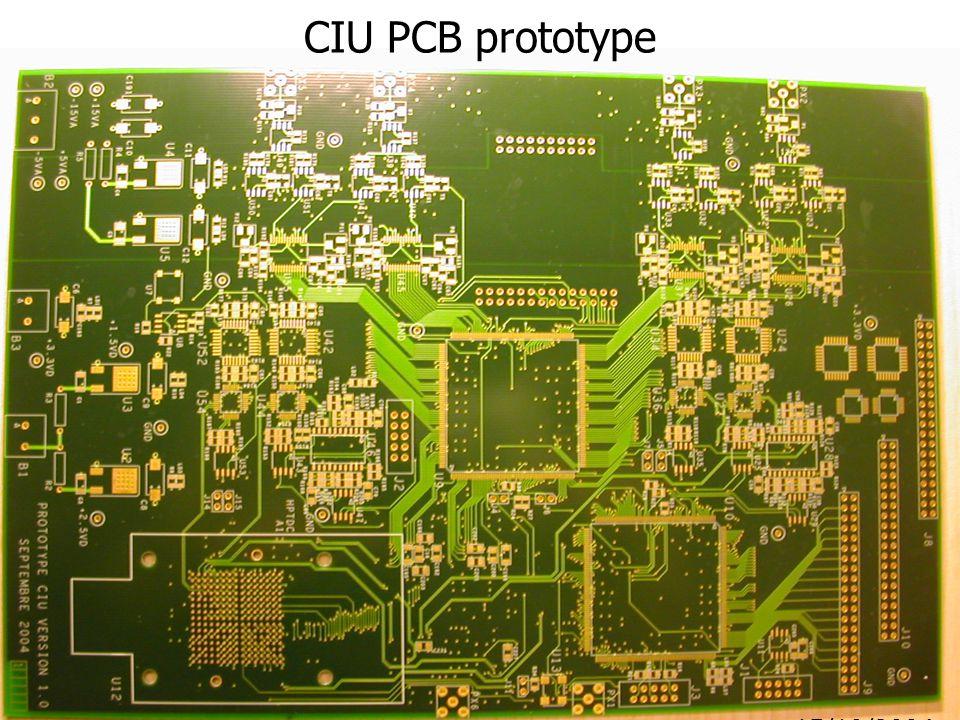 22/09/200414 15/10/2004 CIU PCB prototype