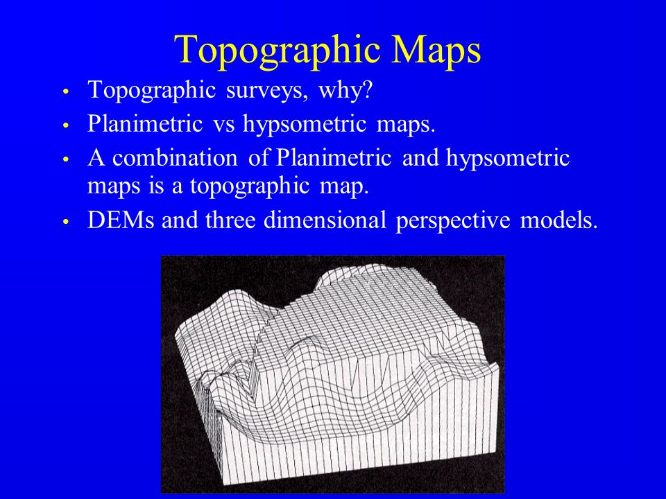 Control for Topographic Surveys Horizontal: traversing, triangulation, GPS, extended with photogrammetry in large areas.