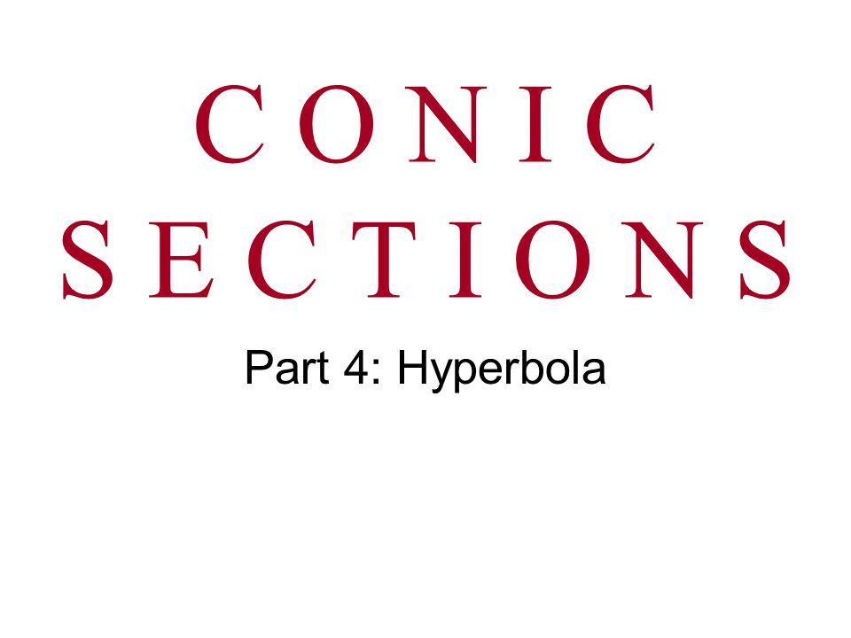 C O N I C S E C T I O N S Part 4: Hyperbola