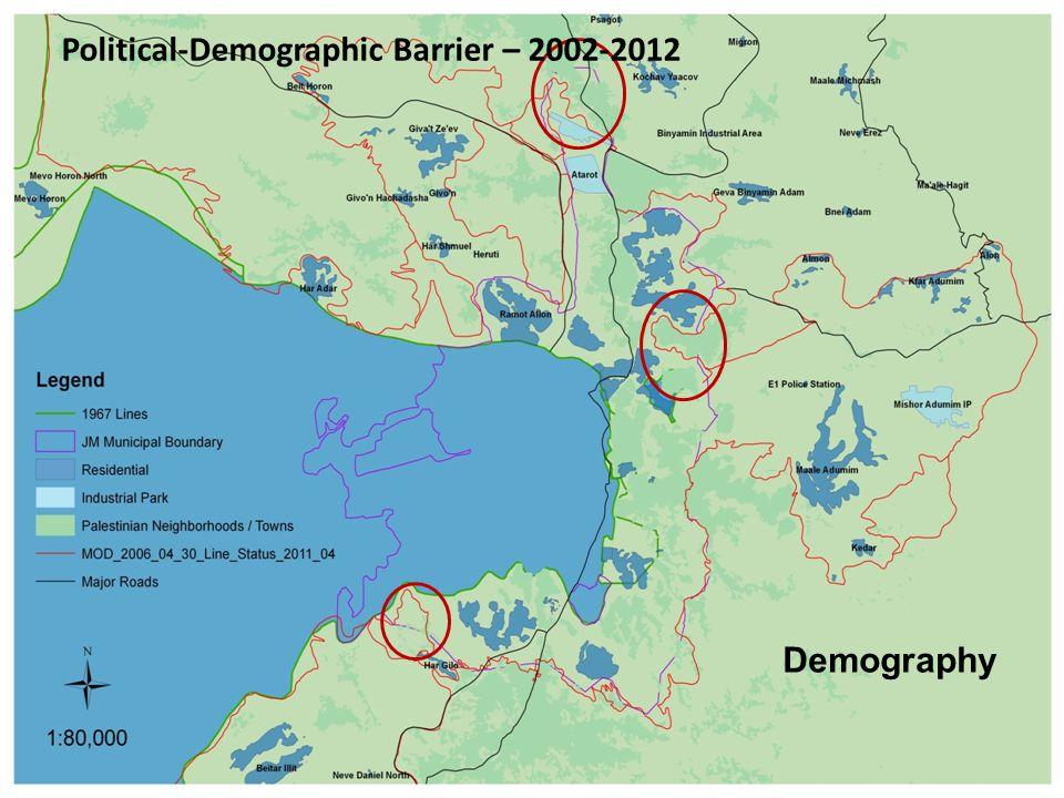 Demography Political-Demographic Barrier – 2002-2012