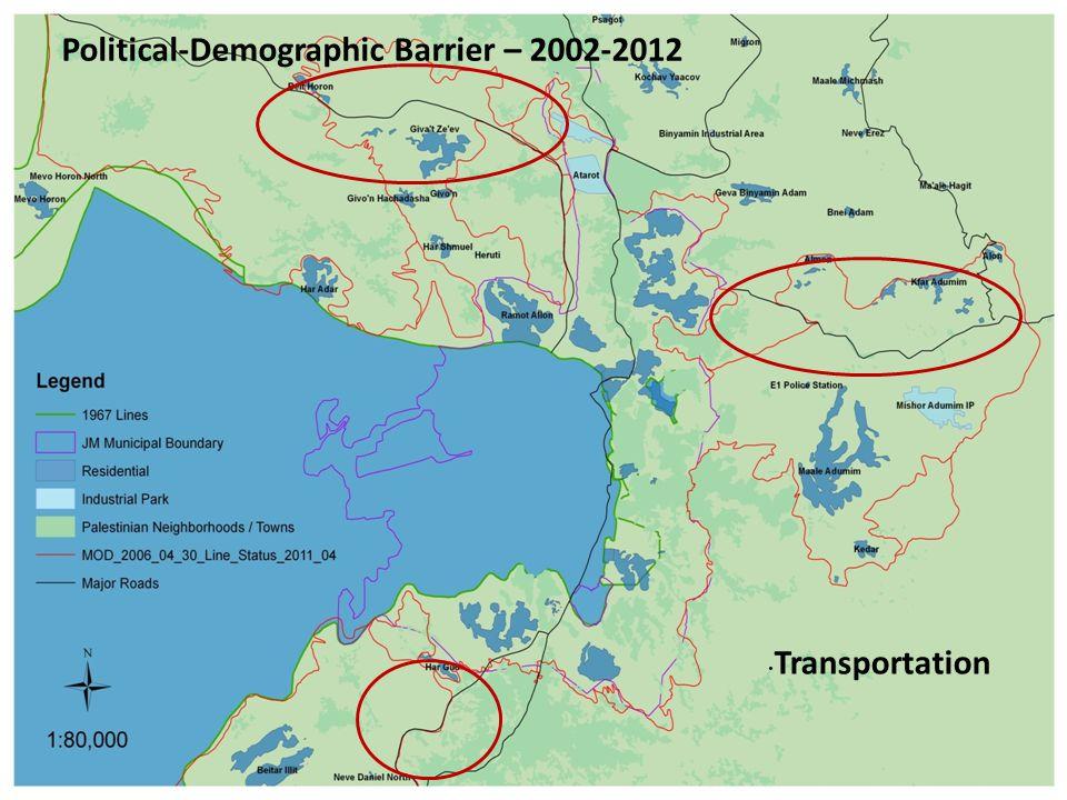 Transportation Political-Demographic Barrier – 2002-2012