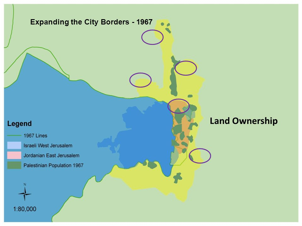 Expanding the City Borders - 1967 Land Ownership