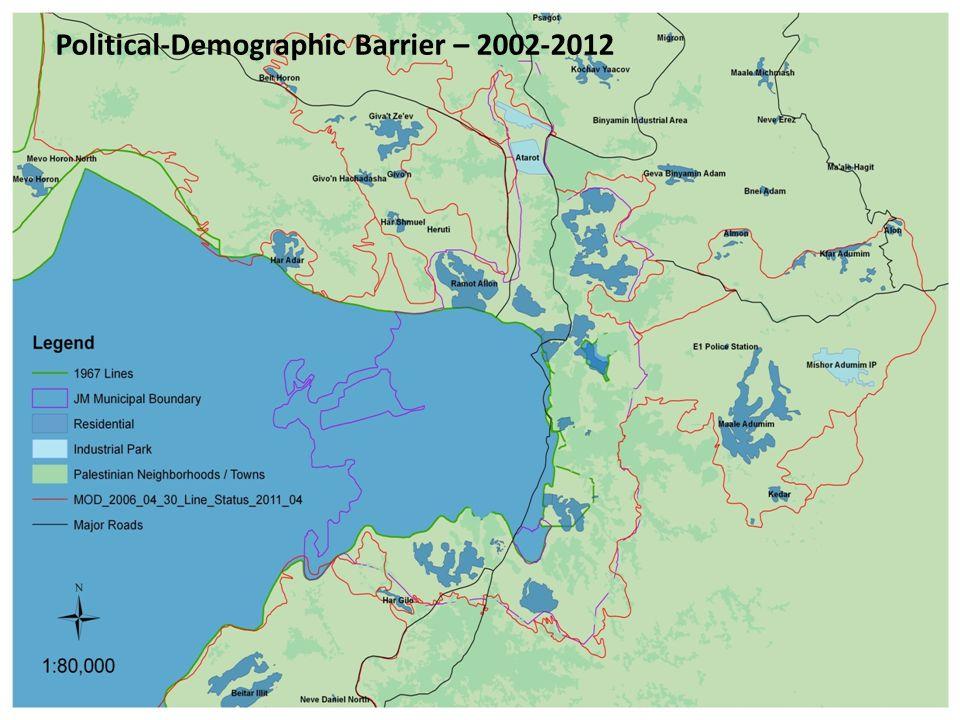 Political-Demographic Barrier – 2002-2012