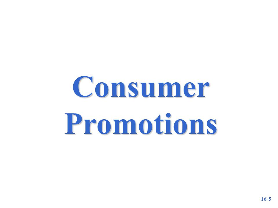 16-5 Consumer Promotions