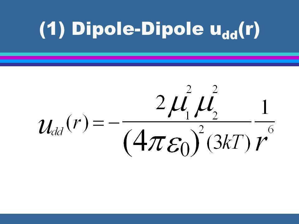 (1) Dipole-Dipole u dd (r)