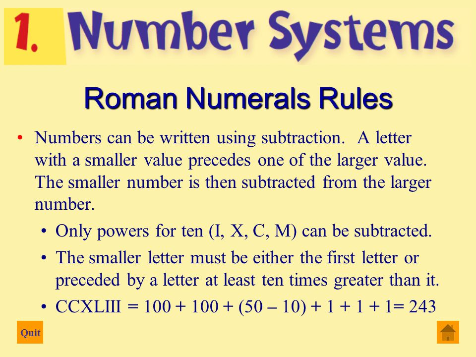Quit Numbers can be written using subtraction.