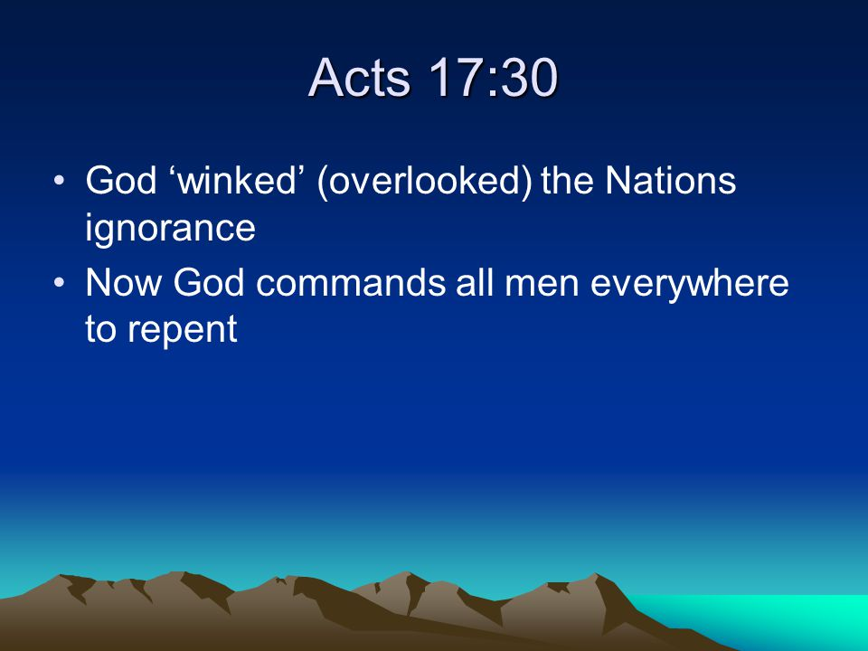 Book of Acts Is about how God reached these Nations with the message of Christ