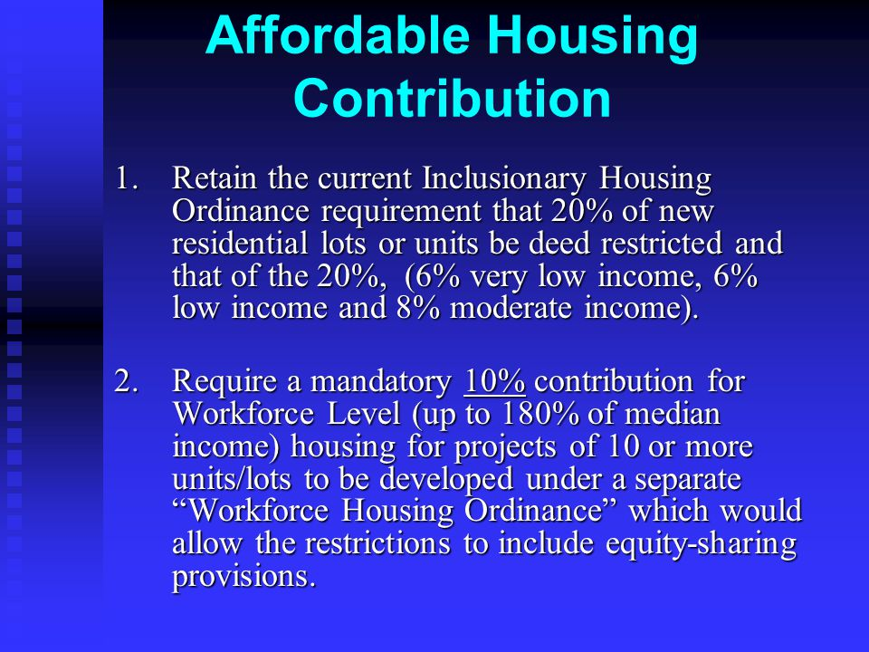 Affordable Housing Contribution 1.