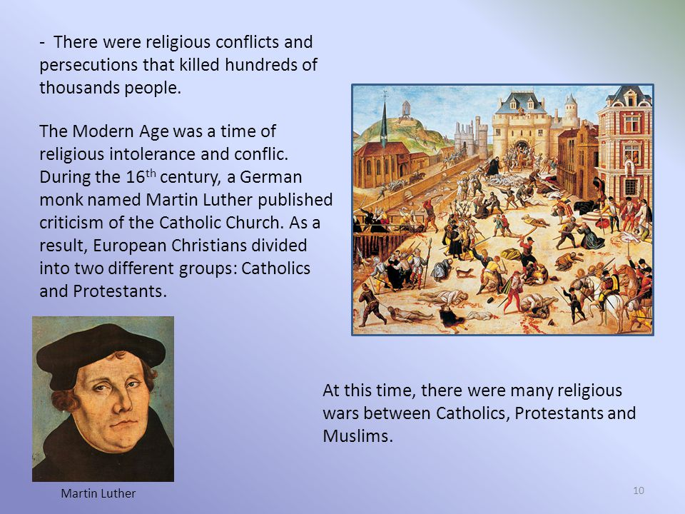 - There were religious conflicts and persecutions that killed hundreds of thousands people.