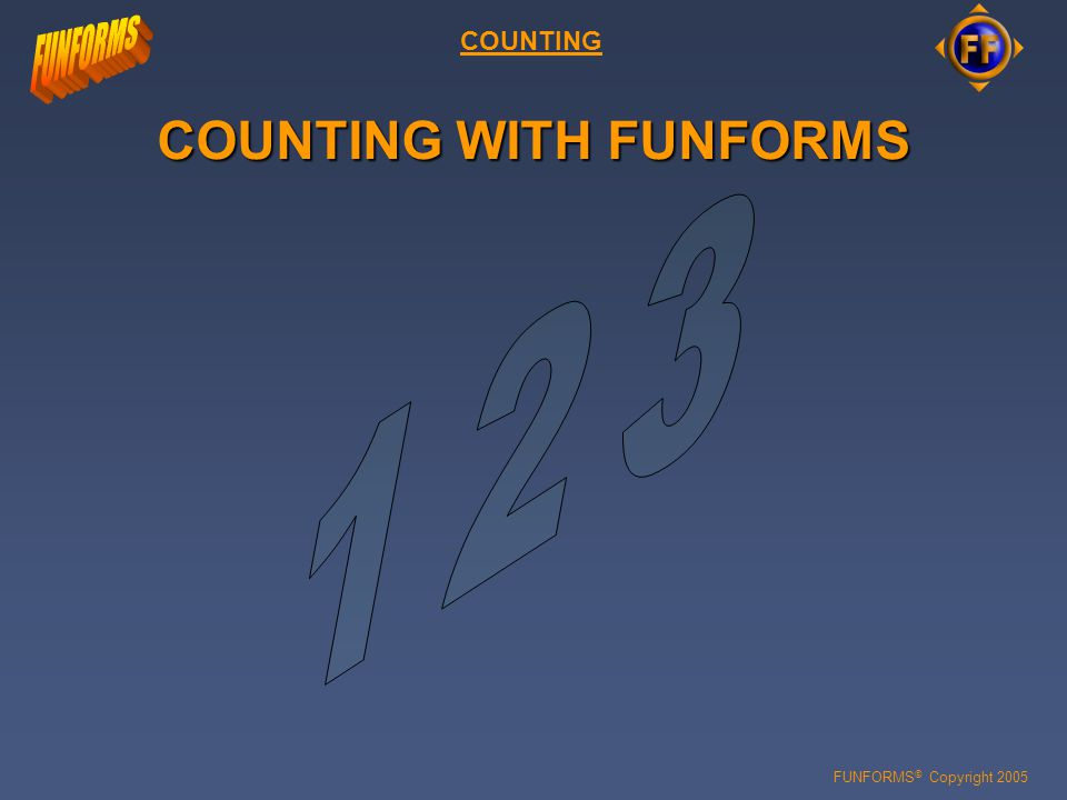 FUNFORMS © Copyright 2005 INTRODUCTION 16 8 4 2 1 All potential positions ( points ) above unity point are fractional in nature and represent the value of whole number negative powers of 2.