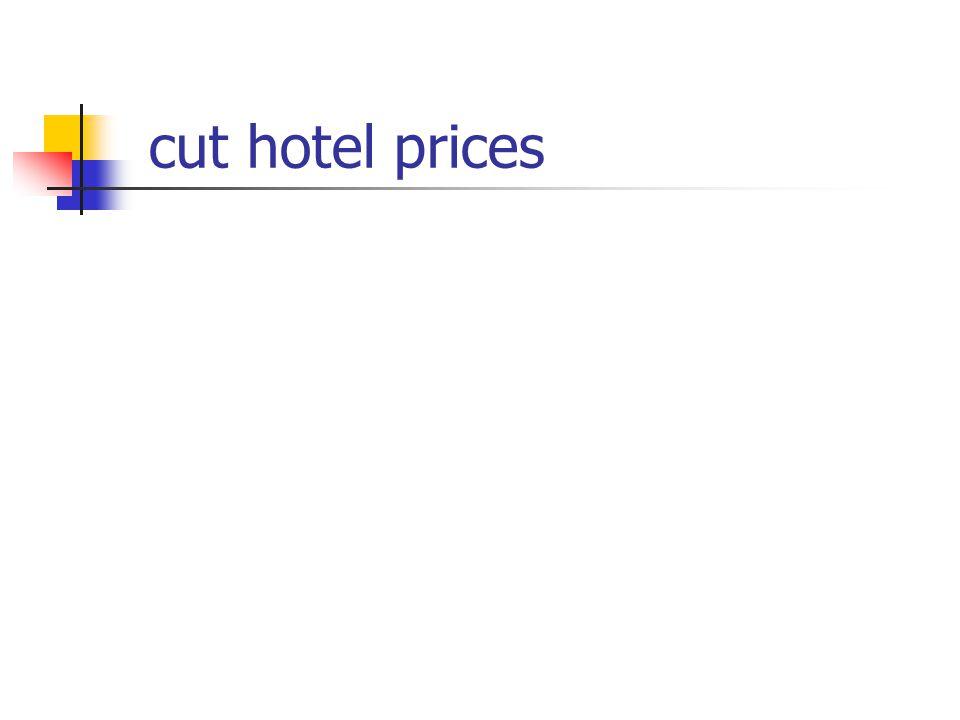 cut hotel prices