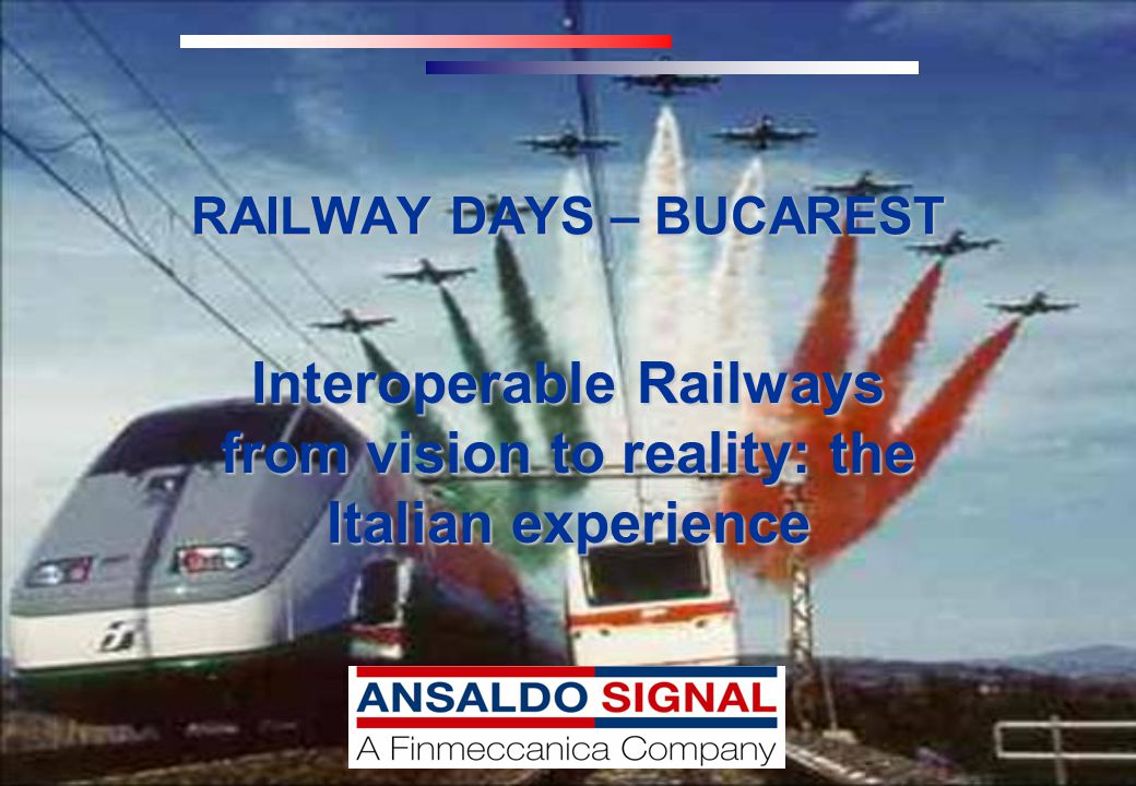 2 Summary 1.A Vision made Reality: the new Italian High Speed Railways in commercial operation 2.Key to Interoperabilty: the European Traffic Management System ERTMS 3.The basis: European Directives and Technical Specifications 4.Proving that it works: the integration and verification of Interoperability