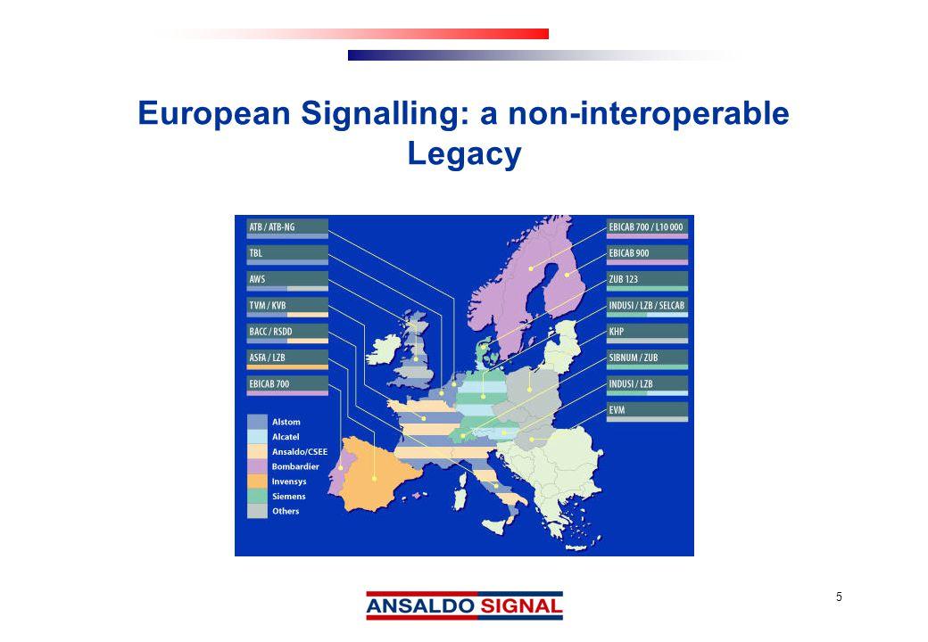 5 European Signalling: a non-interoperable Legacy