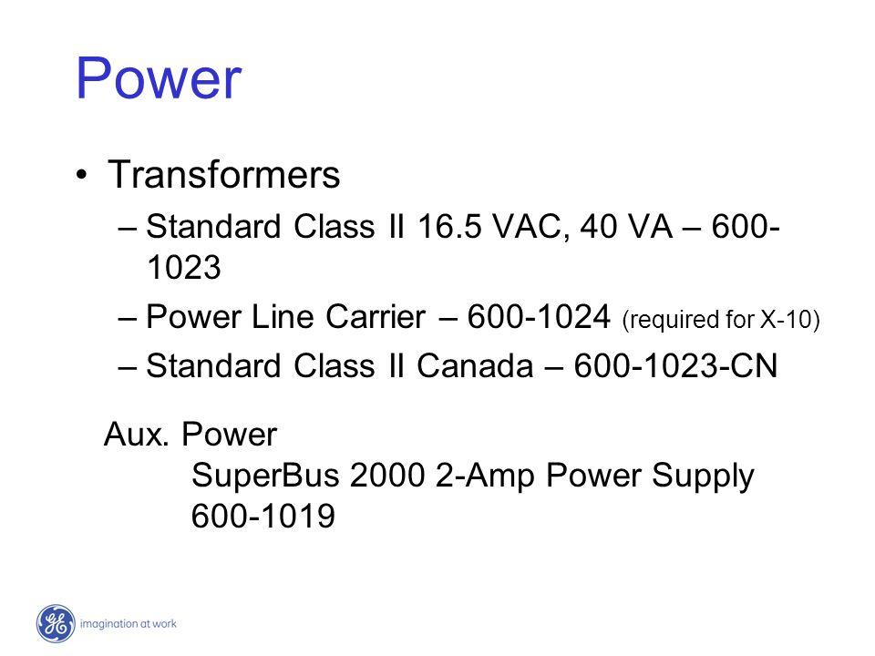 SuperBus 2000 Modules (16 total) RF Receiver - 60-764-01-95R RF Transceiver - 600-1025-01-95R Voice Only Module - 60-836 Phone Interface/Voice Module - 60-777-01 8Z Input Module - 60-774 4-Relay Output Module - 60-770 Cellular Backup Module - 60-850 Energy Saver Module - 60-620-01 Automation Module - 60-783-02 Wireless Gateway - 60-861 2 Amp Power Supply - 600-1019 Interrogator 2000 AVM (not a Bus device)