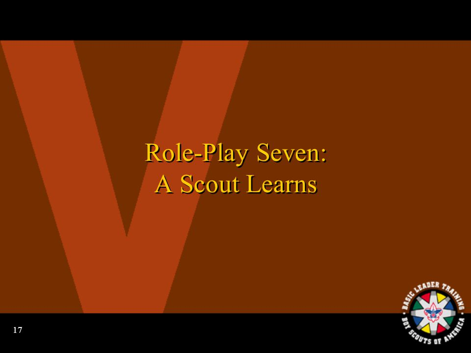 16 The Four Steps to Advancement A Varsity Scout learns.