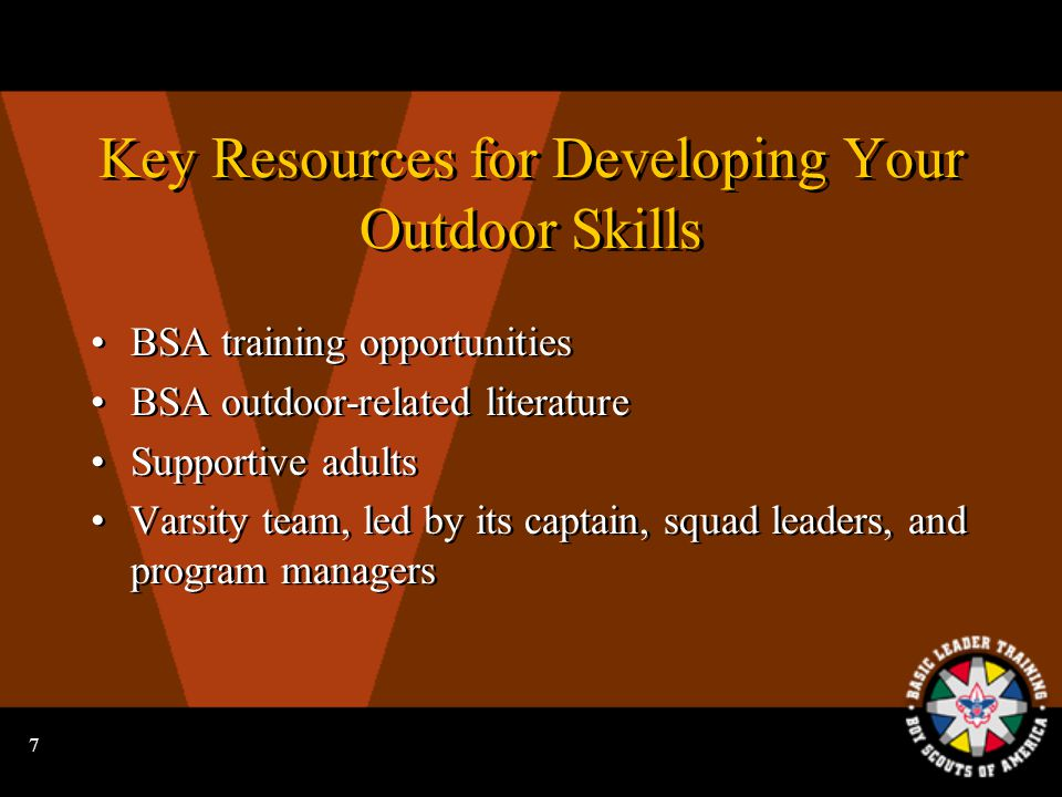 6 The Outdoors: Skills and Safety