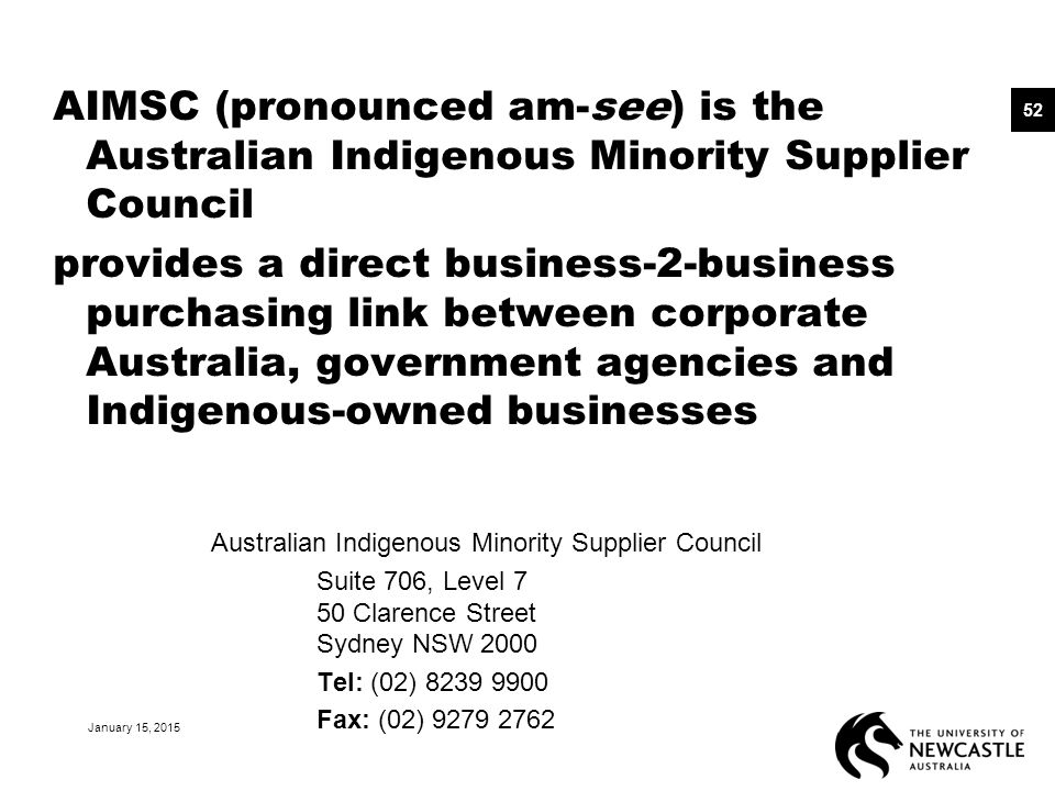 AIMSC (pronounced am-see) is the Australian Indigenous Minority Supplier Council provides a direct business-2-business purchasing link between corpora