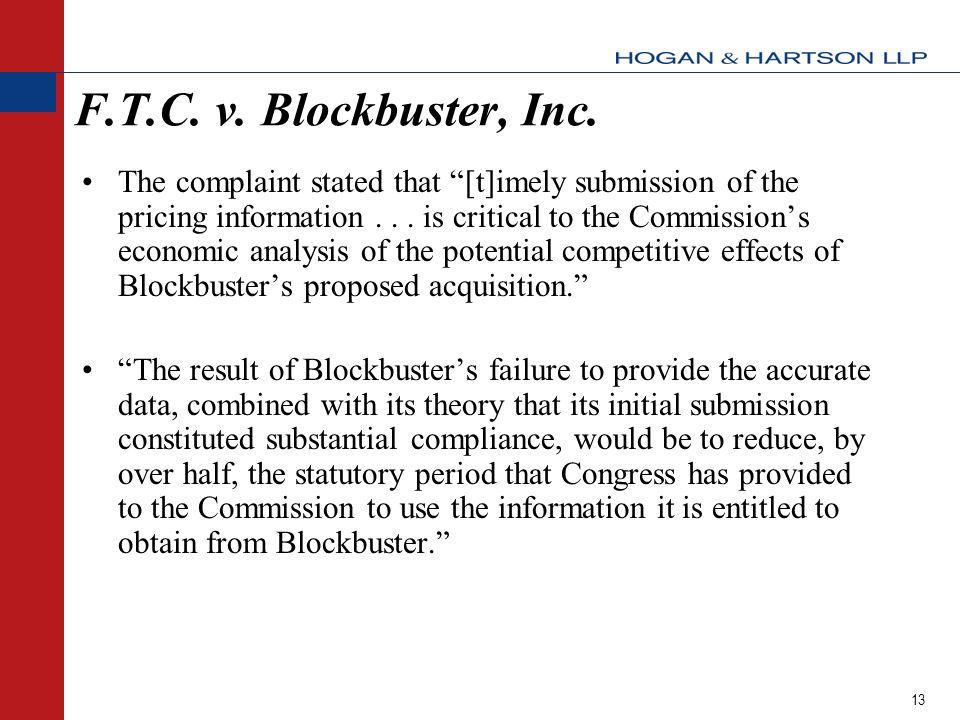 13 F.T.C. v. Blockbuster, Inc.