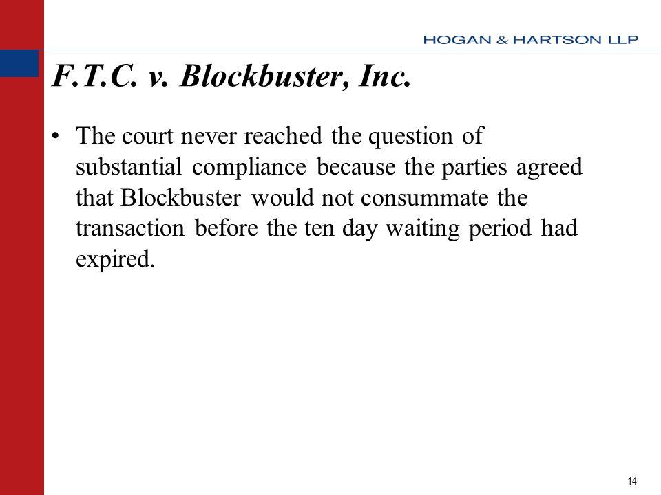 14 F.T.C.v. Blockbuster, Inc.