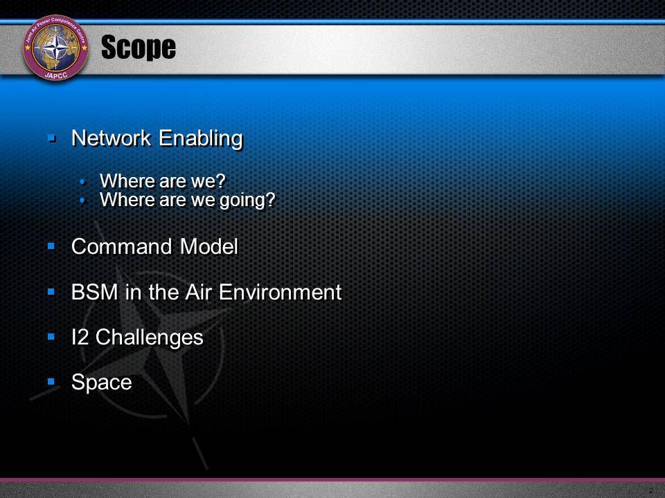 3 NATO Air C4ISR – Ground Environment VoIP Begins 2007 0% 50%0%