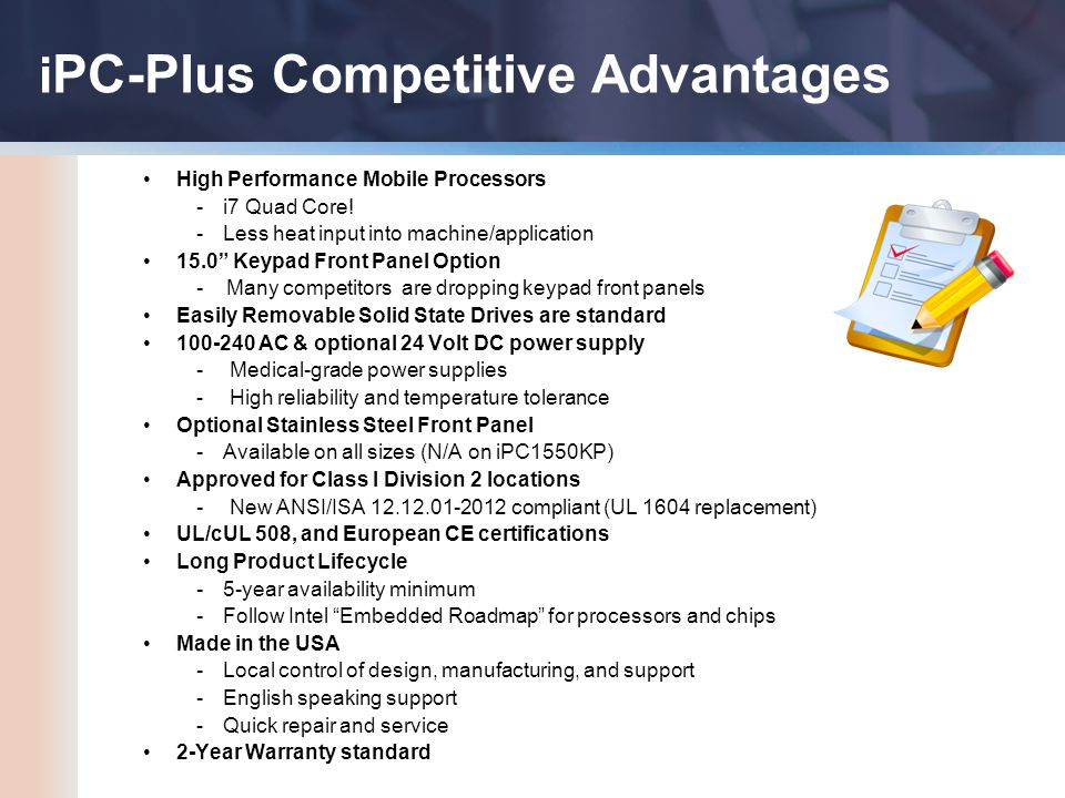High Performance Mobile Processors -i7 Quad Core.
