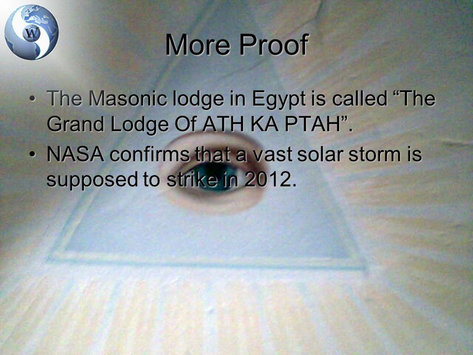 More Proof The Masonic lodge in Egypt is called The Grand Lodge Of ATH KA PTAH .The Masonic lodge in Egypt is called The Grand Lodge Of ATH KA PTAH .