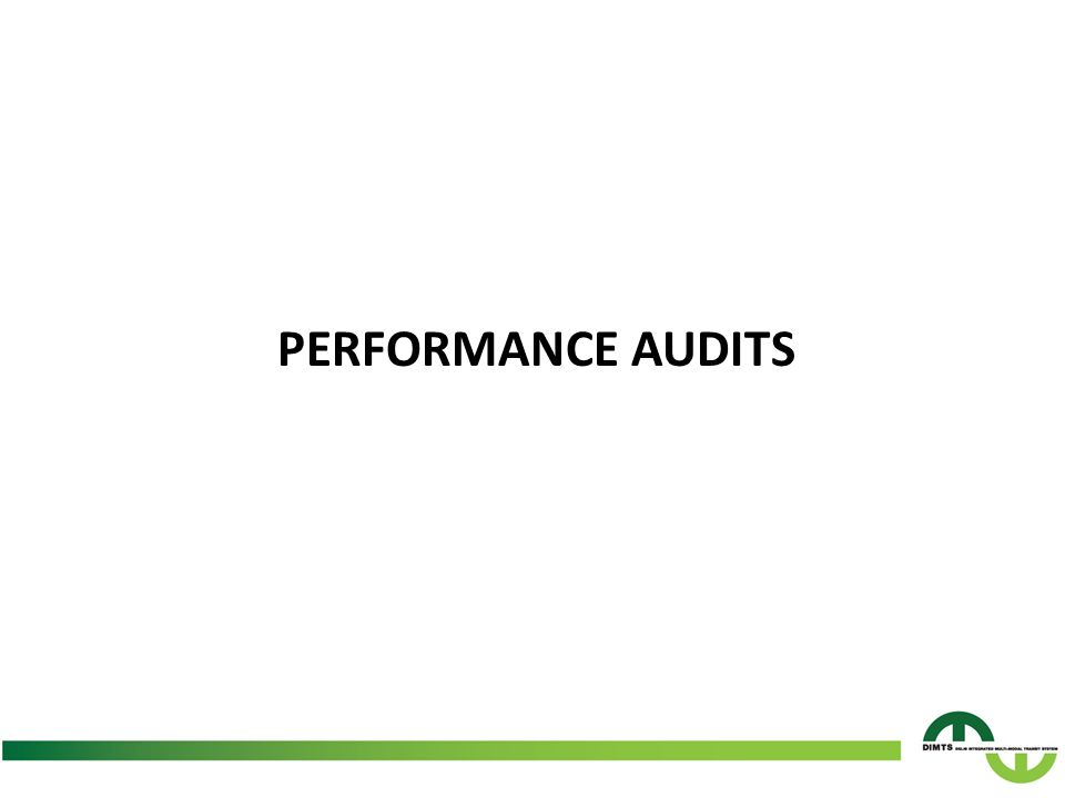 PERFORMANCE AUDITS