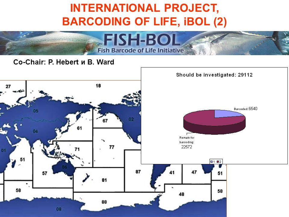 INTERNATIONAL PROJECT, BARCODING OF LIFE, iBOL (2) Co-Chair: P. Hebert и B. Ward