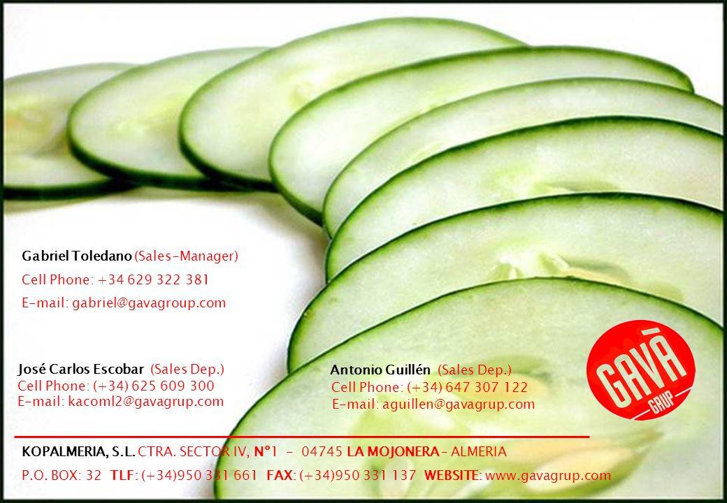 15 José Carlos Escobar (Sales Dep.) Cell Phone: (+34) 625 609 300 E-mail: kacoml2@gavagrup.com Antonio Guillén (Sales Dep.) Cell Phone: (+34) 647 307 122 E-mail: aguillen@gavagrup.com KOPALMERIA, S.L.