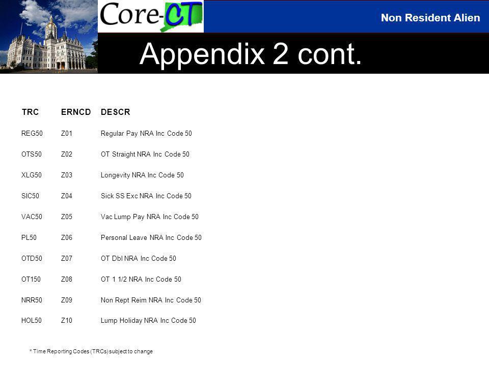 Non Resident Alien Appendix 2 cont.